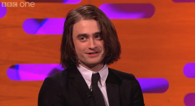 Daniel Radcliffe Debuts Long Hair on The Graham Norton Show