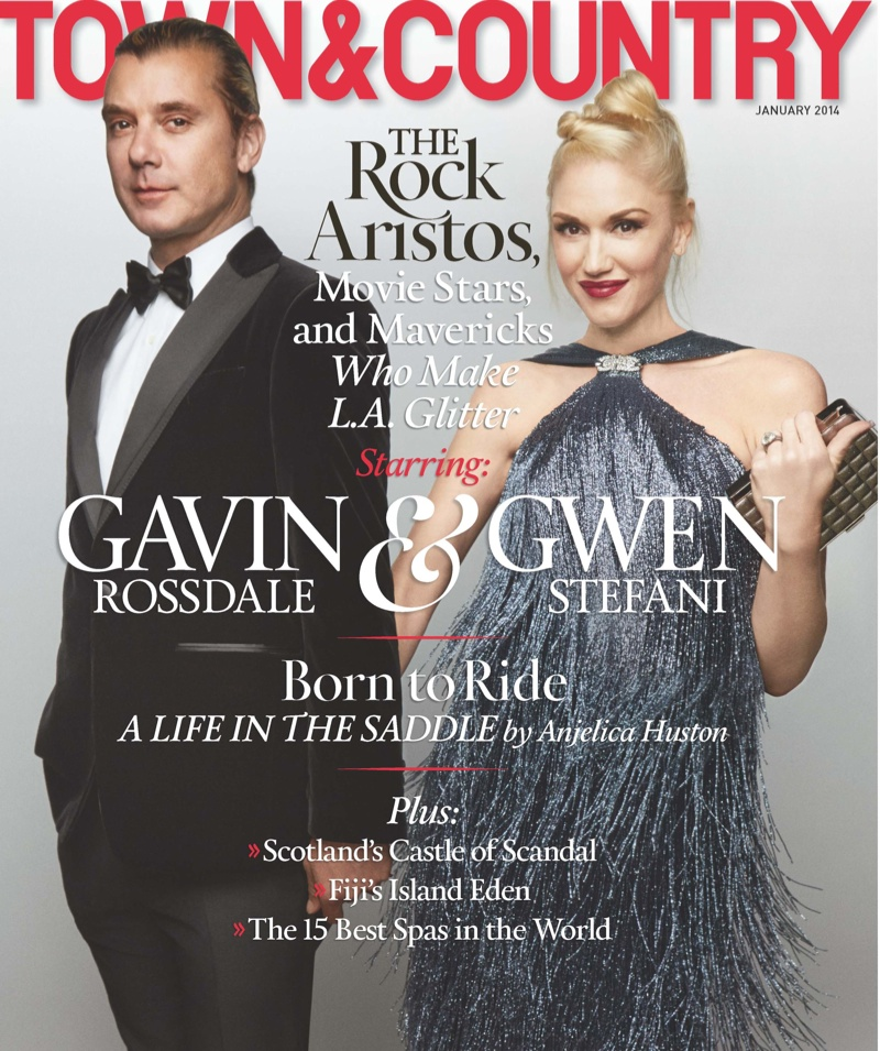 Town & Country January Cover - Gwen Stefani & Gavin Rossdale