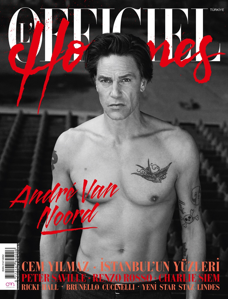 Andre Van Noord Stars in L'Officiel Hommes Turkey's Fall/Winter 2013 Cover Story