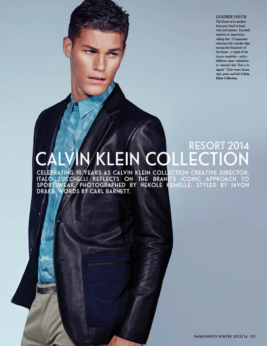 Calvin Klein Collection Resort 2014 Fashionisto Tyler Maher editorial