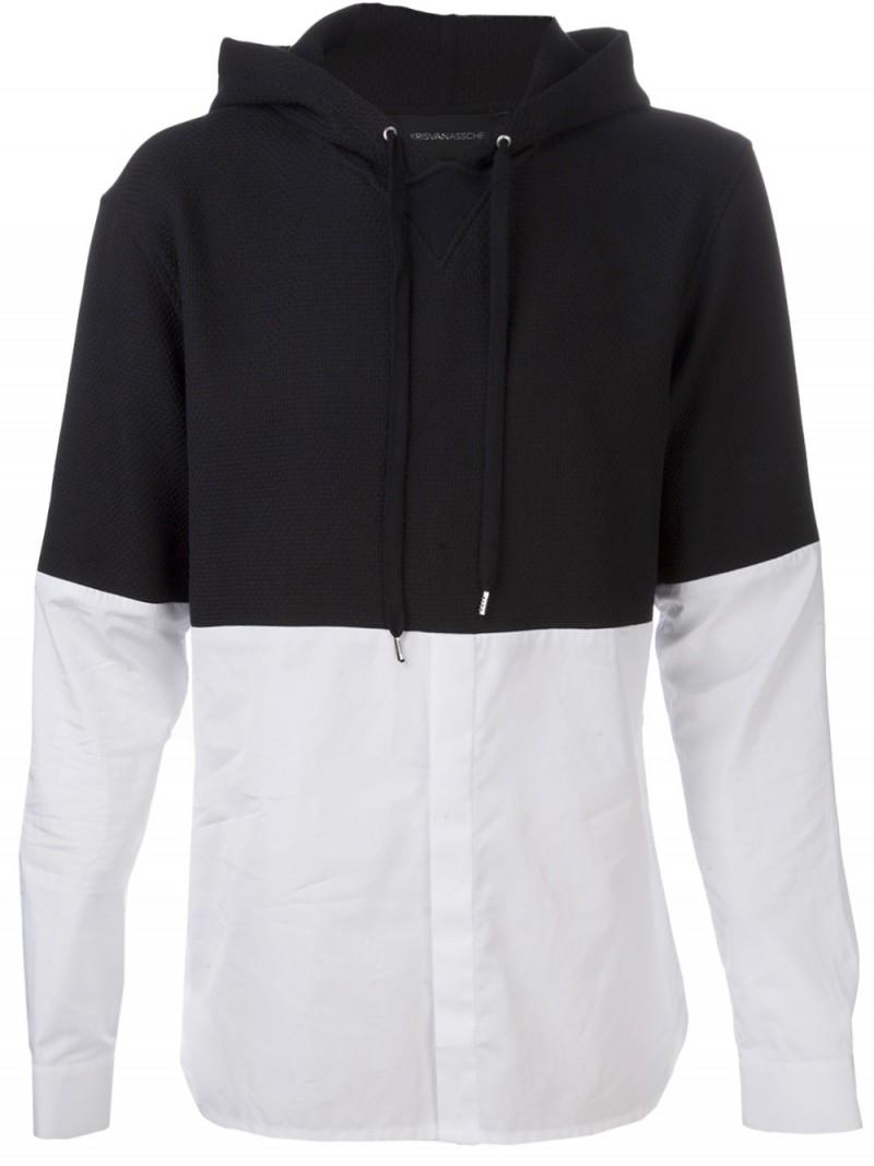 KRISVANASSCHE Hybrid Hoodie Shirt
