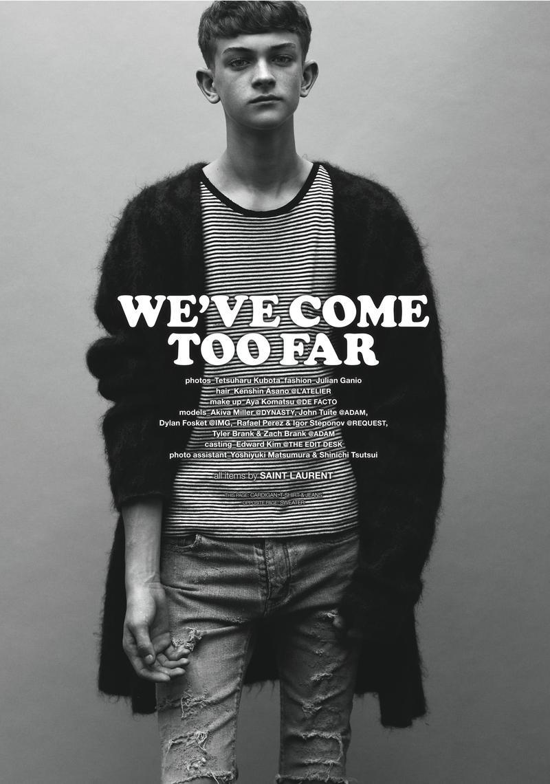 Igor Stepanov, Dylan Fosket, John Tuite + More in Saint Laurent for Commons & Sense Man