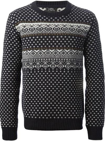 A.P.C. fair isle knit sweater
