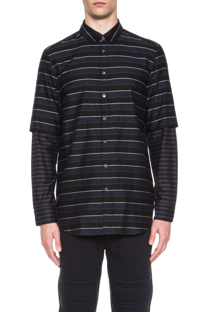 3.1 Phillip Lim Classic Fit Button Up in Navy