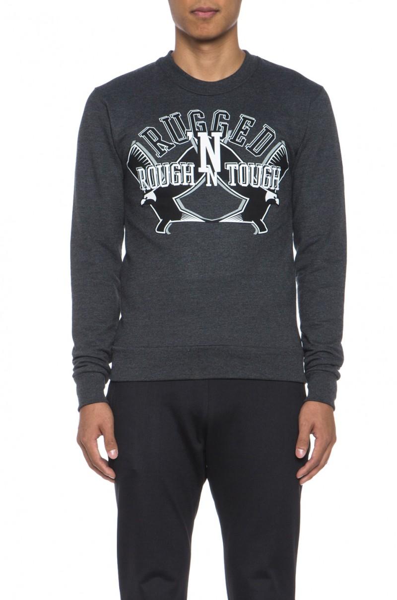 KRISVANASSCHE Rugged Sweatshirt in Black