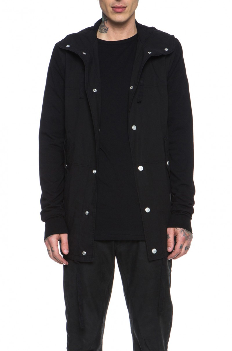 Silent by Damir Doma Hooded Shirt Jacket in Black