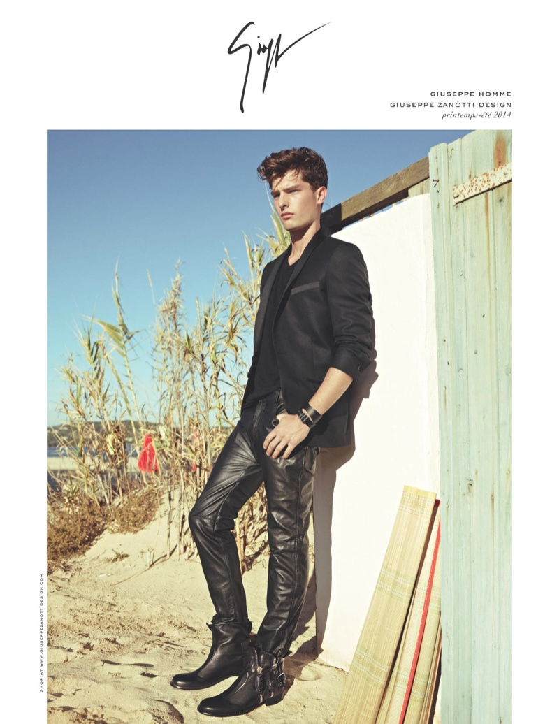 Giuseppe Zanotti Spring/Summer 2014 Campaign Featuring Paolo Anchisi
