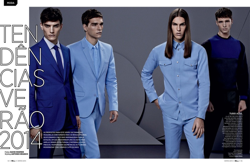 Alexandre Cunha, Travis Smith, Matthew Bell + More Sport the S/S '14 Collections for GQ Style Brasil