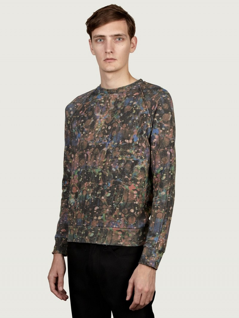 Paul Smith Men's Marble Print Sweatshirt