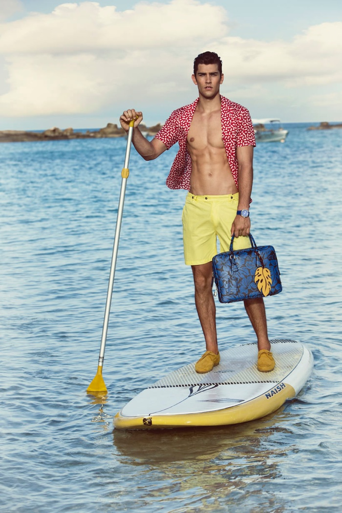 Jack Vanderhart is Ready for S/S '14 in Swim Shorts for Wish Magazine