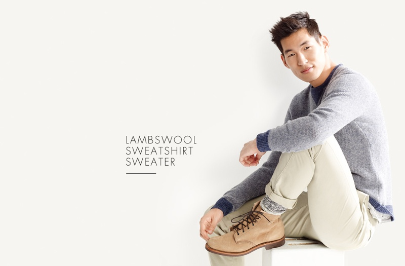 Jae Yoo Wears 7 Cozy Sweaters for J.Crew