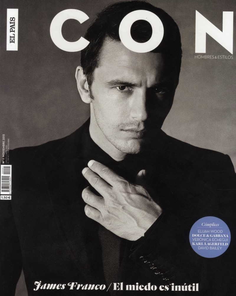 James Franco Covers the Debut Issue of Icon Magazine
