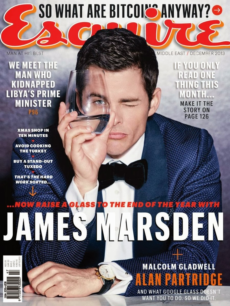 James Marsden Covers the December Issue of Esquire Middle East