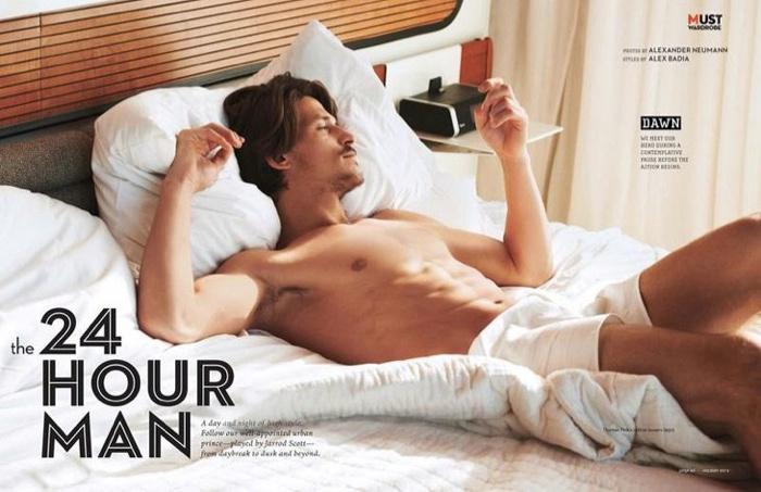 Jarrod Scott shirtless bed