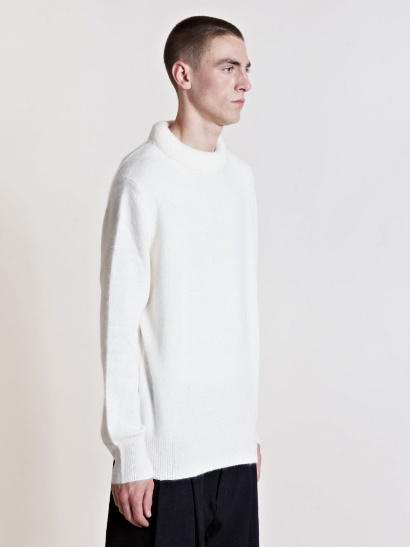 Ann Demeulemeester Men's Arun Knit From AW13 Collection In White