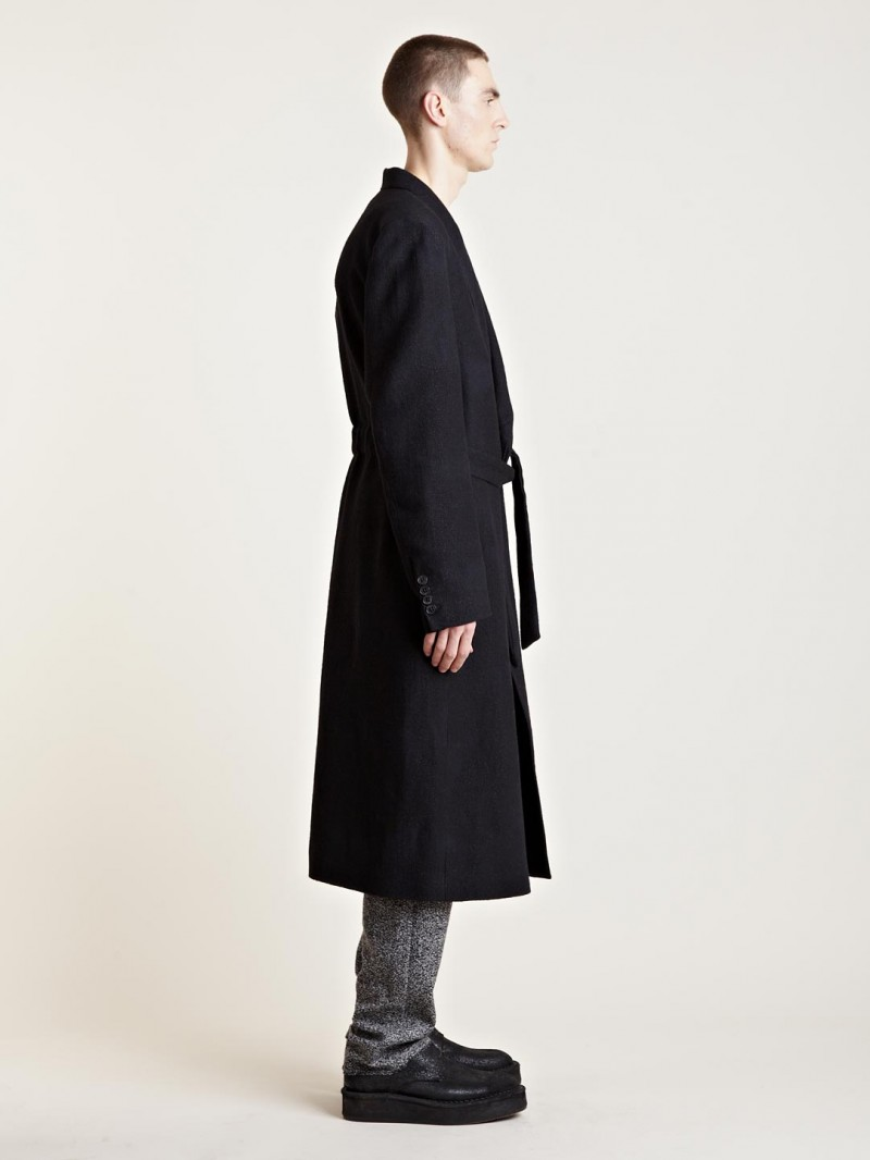Damir Doma Men's Catur Infinity Classic Coat From AW13 Collection In Black