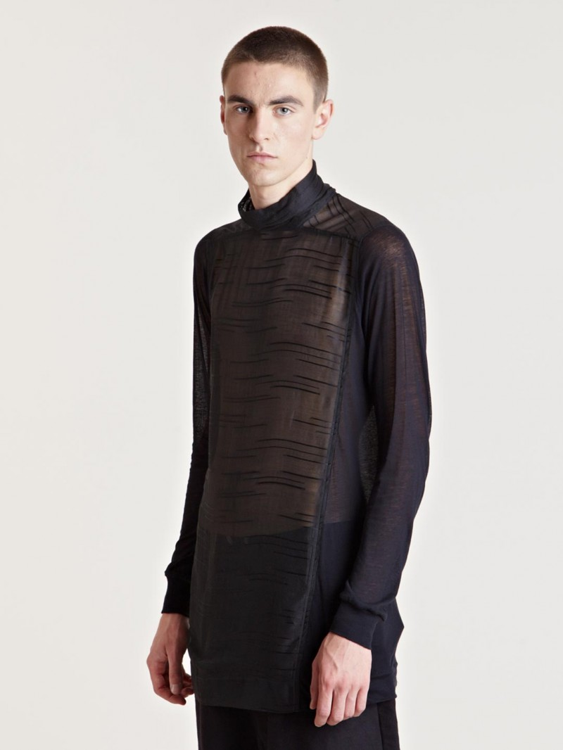 Rick Owens Men's Tabard Top From AW13 Collection In Black