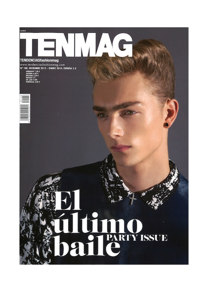 Marijn Valk Covers the Party Issue of TenMag
