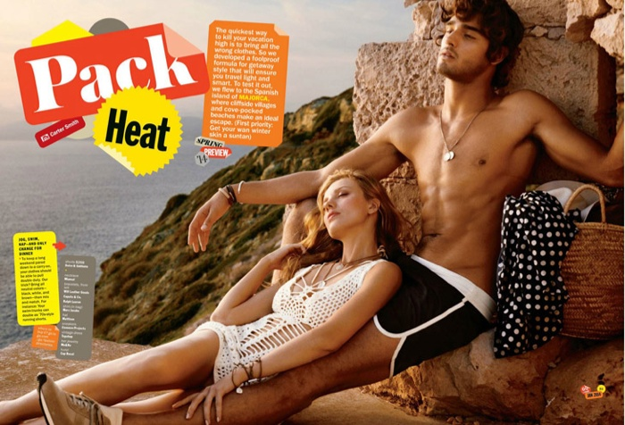 Marlon Teixeira Stars in a Spring Editorial for the January Issue of American GQ