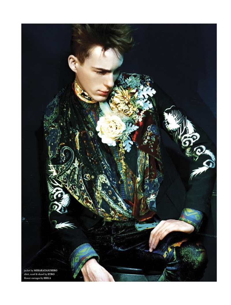 Milo Spijkers Dons Decadent Styles for West East Magazine