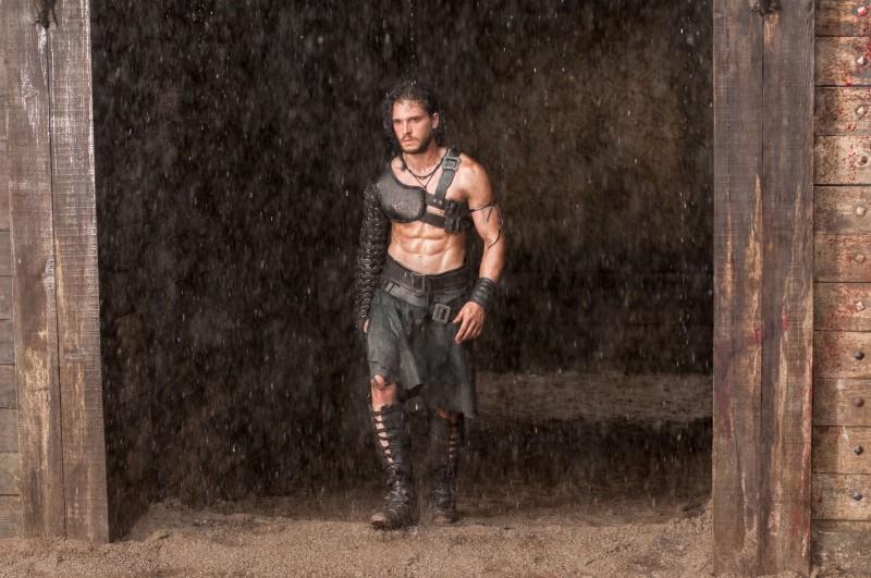 Kit Harington shirtless Pompeii