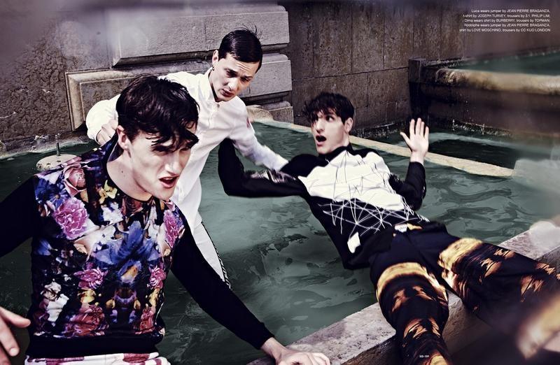 Nil Hoppenot Shoots Luka Badnjar, Dima Dionesov & Rodolphe Zanforlini for SID Magazine