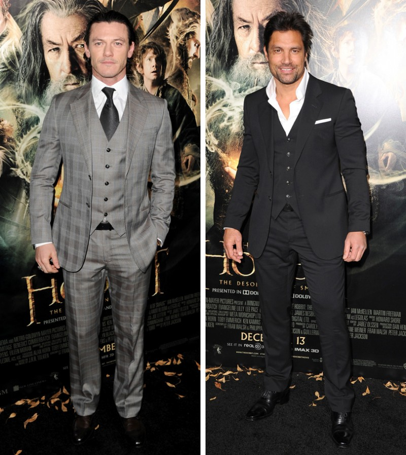 Luke Evans and Manu Bennett The Hobbit