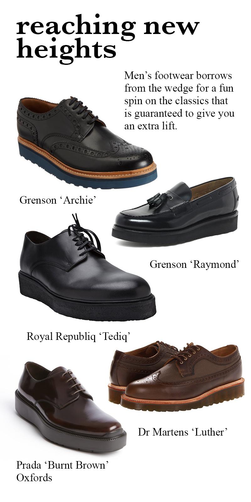 men's wedge shoes