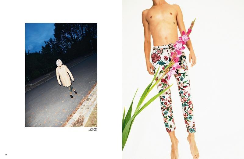 Dylan Fosket & Valters Medenis in Gucci S/S '14 for 10 Men
