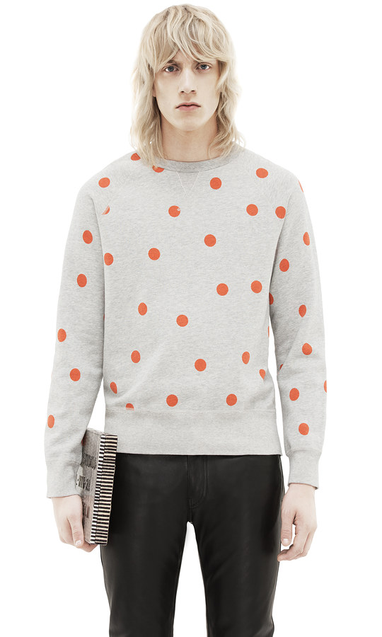Embrace Polka Dots with Acne's College Dot Sweatshirt