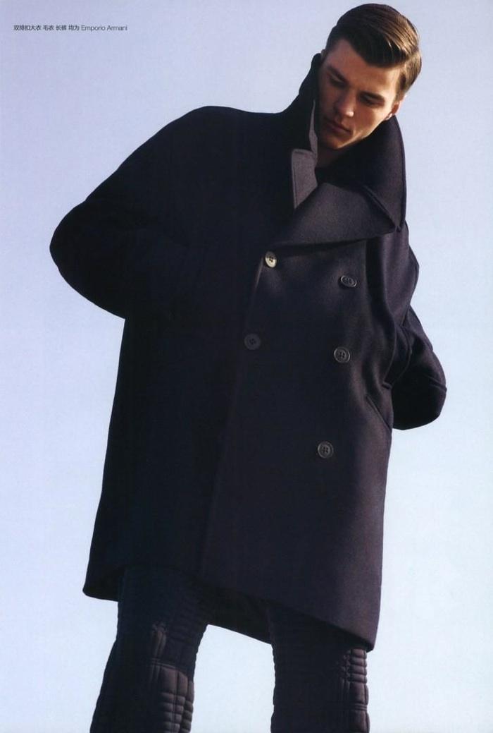 Arran Sly Sports Sharp Winter Coats for GQ China