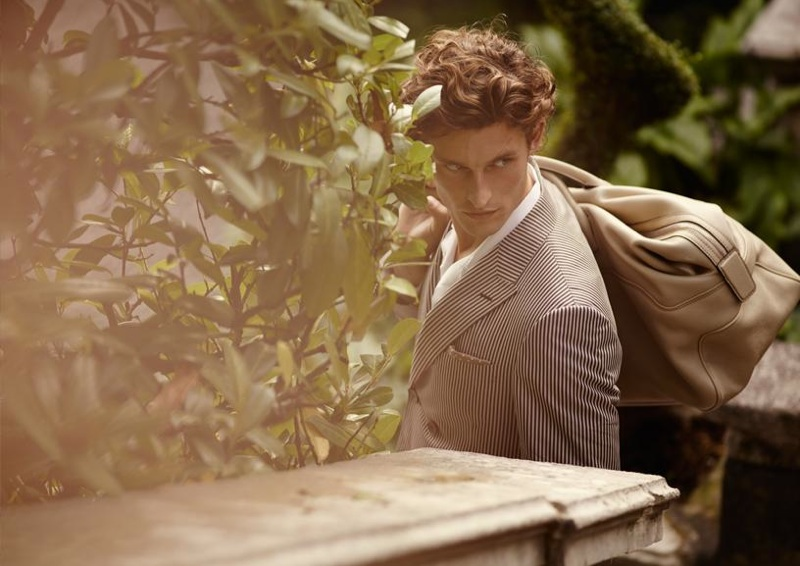 Canali Spring/Summer 2014 Campaign Photos Featuring Wouter Peelen