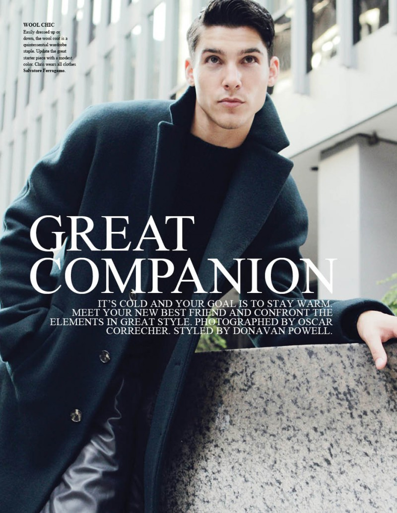 Chris Petersen Dons Winter Coats for Fashionisto #9