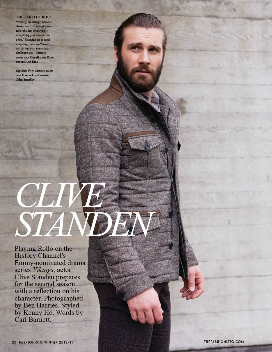 Clive Standen of 'Vikings' for Fashionisto #9