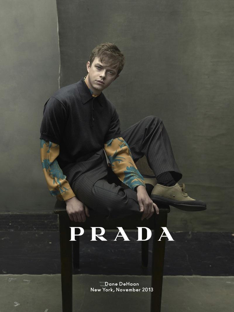 Prada Dane DeHaan Prada Spring/Summer 2014 Campaign Photo