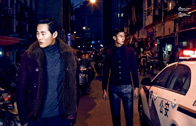 Liu Chang & Lee Erzhen are 'Lost in the East' for Elle Men China