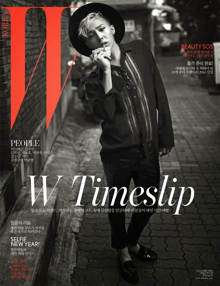 G-Dragon Dons Saint Laurent Spring/Summer 2014 for W Korea ...  G-Dragon Dons S...