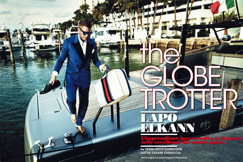 Lapo Elkann Covers the January Issue of L'Uomo Vogue