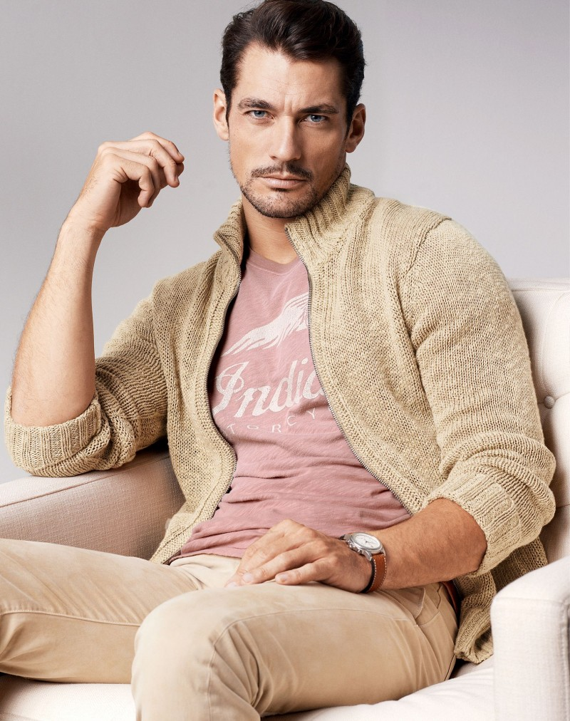 David Gandy Appears in Lucky Brand Spring 2014 Catalogue