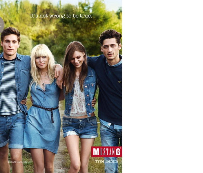 Carlos Ferra & Andrew Bird for Mustang Jeans Spring/Summer 2014 Campaign