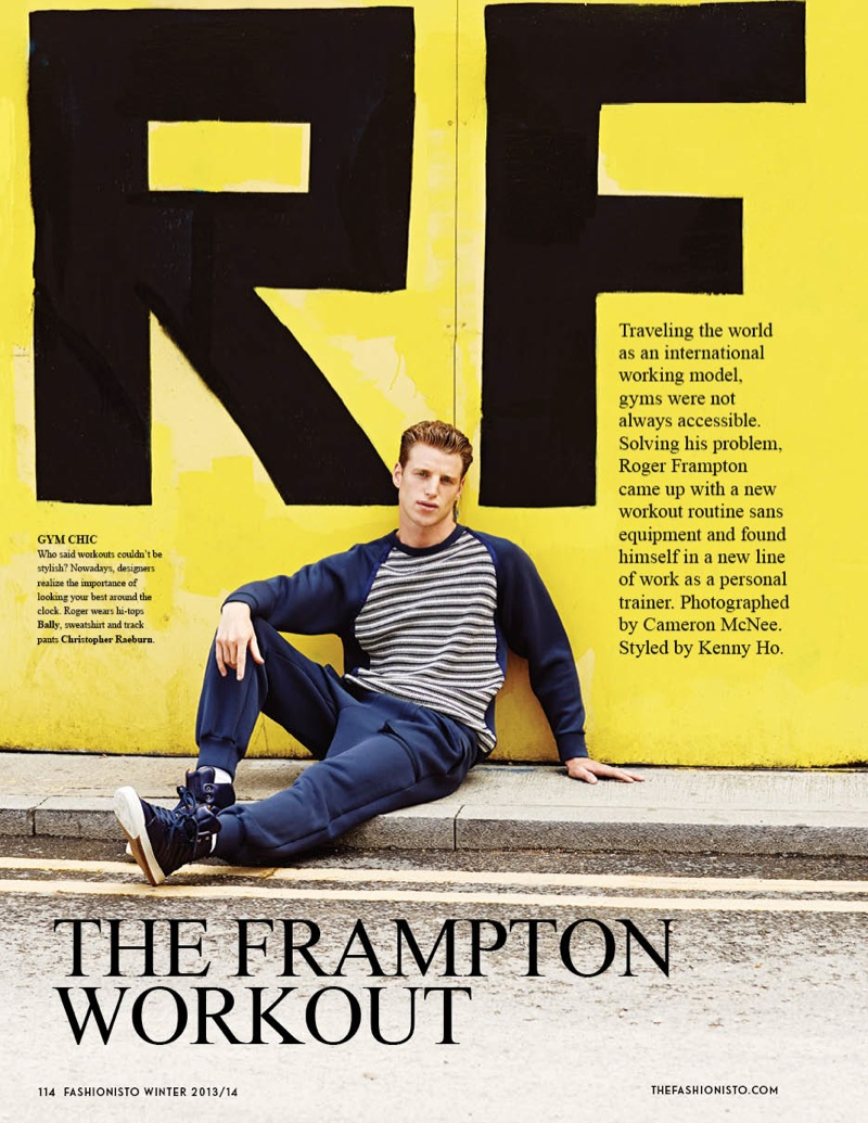 Roger Frampton Dishes on the Ultimate Workout for Fashionisto #9