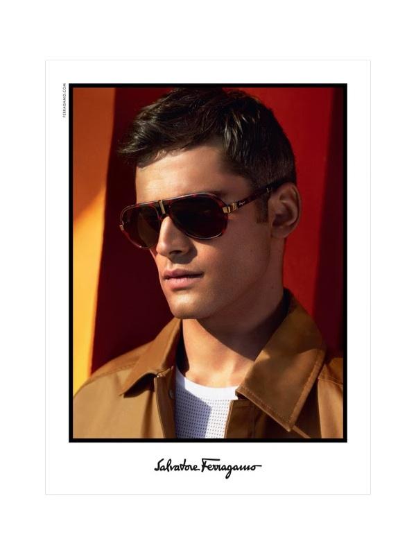 a295e080753 Sean O Pry Fronts Salvatore Ferragamo Spring Summer 2014 Men s Eyewear  Campaign