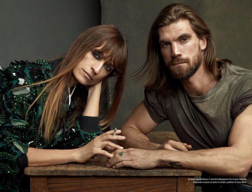 Henrik Fallenius, RJ King, David Flinn + More by Steven Meisel for Vogue Italia