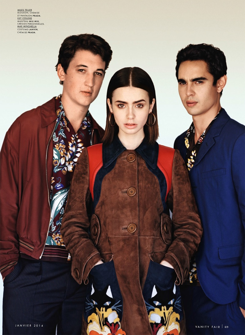 Miles Teller, Lily Collins and Max Minghella