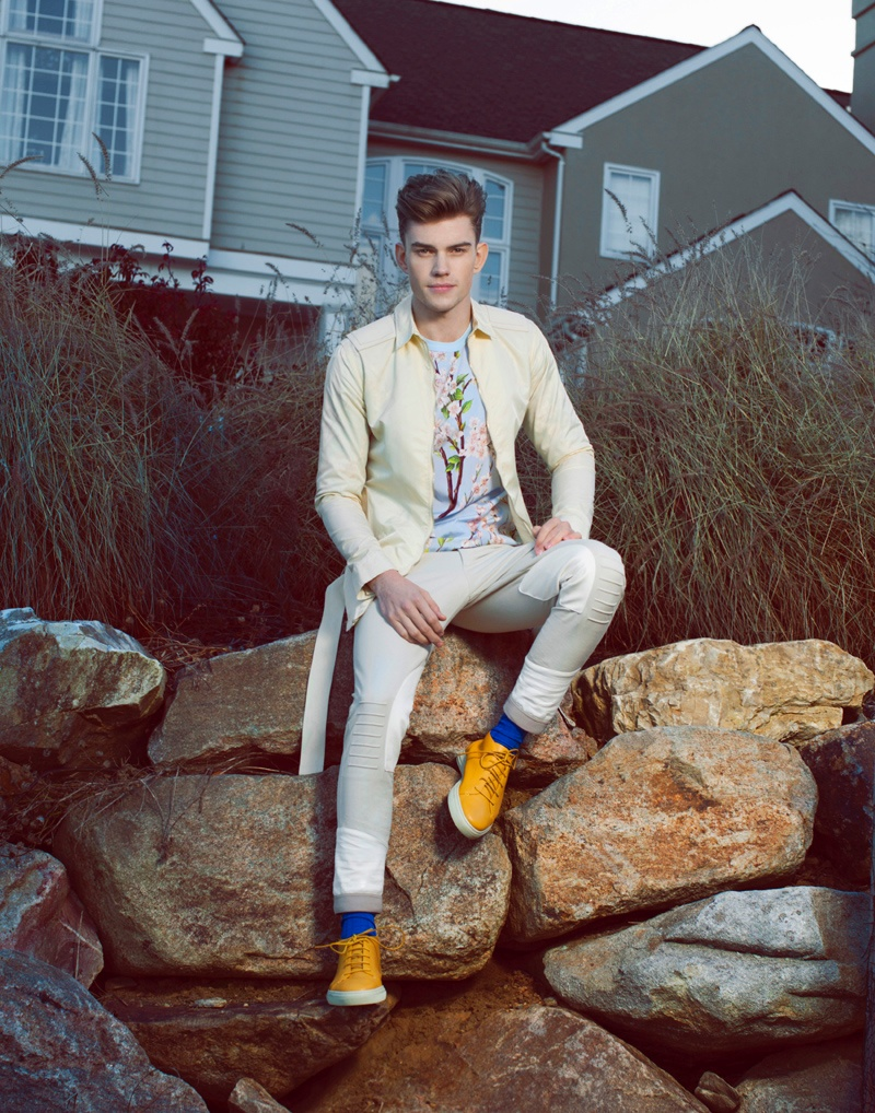 Andre Bentzer Dons Spring Fashions for AMD Mode
