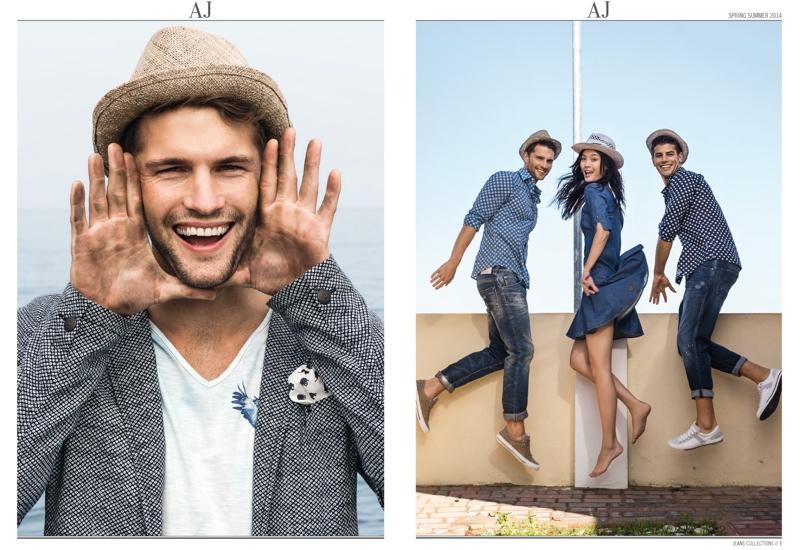 Tomas Skoloudik & Fabio Mancini for Armani Jeans Spring/Summer 2014 Catalogue