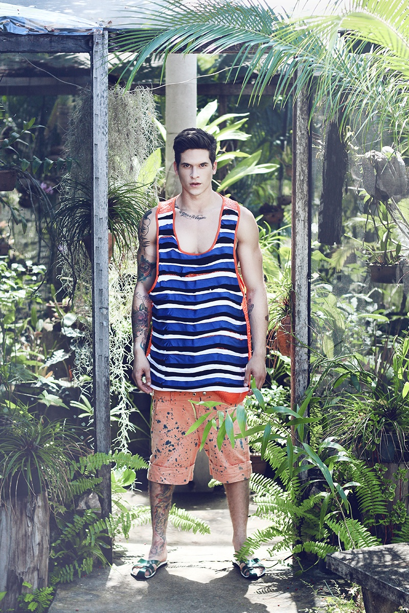 Diego Fragoso Models Tropical Styles for Brainstorm