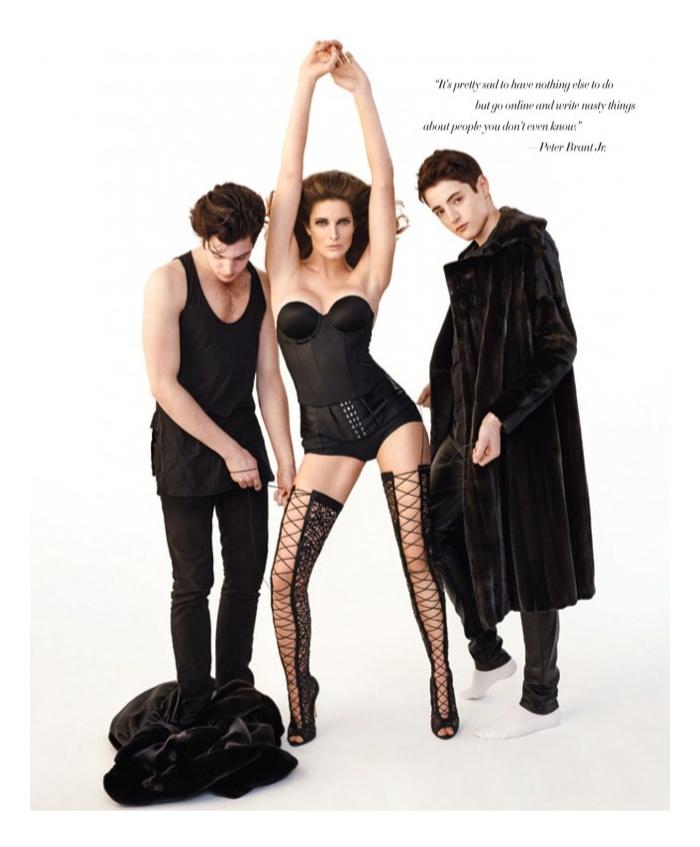 Harry & Peter Brant Jr. Join their Mother Stephanie Seymour for Harper's Bazaar