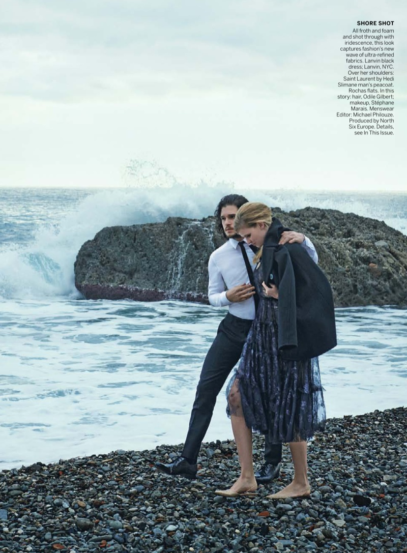 Kit Harington Appears In Vogue With Lara Stone The