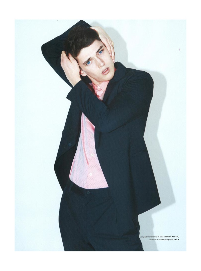 Matthew Holt Models Spring Suits with a Stylish Punch for L'Officiel Hommes Italia
